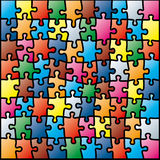 Jigsaw puzzle. Colorful pattern ( illustration Royalty Free Stock Image