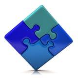 Jigsaw puzzle. Isolated on white background royalty free illustration