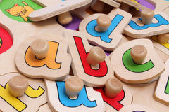 Jigsaw puzzle. Toddlers jigsaw puzzle helping to learn the alphabet Royalty Free Stock Photo