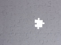 Jigsaw puzzle. Pieces on white Stock Images