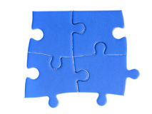 Jigsaw puzzle. Pieces on white Stock Photo