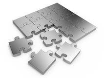 Jigsaw puzzle. Isolated on white background stock illustration