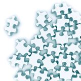 Jigsaw puzzle. On a white background. 3d rendered image Royalty Free Stock Images