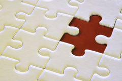 Jigsaw puzzle. A jigsaw puzzle with missing piece Stock Photography