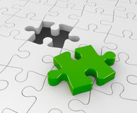 Jigsaw puzzle. Success concept. Separated on white Stock Image