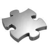 Jigsaw Puzzle. Piece isolated on white Stock Photos