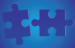Jigsaw-puzzle. Illustration  of a jigsaw-puzzle Stock Images