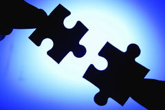 Jigsaw puzzle. A jigsaw puzzle makes a good metaphor for any problem to solve Stock Images