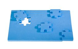 Jigsaw Puzzle. Isolated on white background Stock Images