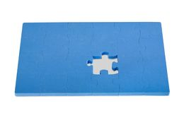 Jigsaw Puzzle. Isolated on white background Royalty Free Stock Image