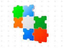 Jigsaw puzzle 3d Royalty Free Stock Photo