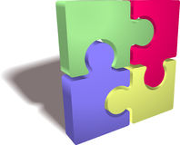 Jigsaw puzzle. An illustration of a completed jigsaw puzzle icon Stock Photos