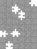 Jigsaw Puzzle. With missing pieces. includes clipping path royalty free illustration