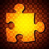 Jigsaw Puzzle. Photoshop generated Jigsaw Puzzle Stock Images