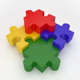 Jigsaw Puzzle. Representing teamwork and success Royalty Free Stock Photos