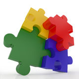 Jigsaw Puzzle. Representing teamwork and success Stock Photo