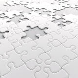 Jigsaw puzzle. With missing pieces Royalty Free Stock Images