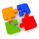 Jigsaw Puzzle. Representing teamwork and success Royalty Free Stock Image