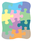 Jigsaw puzzle. A set of colorful jigsaw puzzle Stock Photos