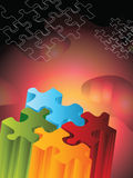 Jigsaw puzzle. 3d abstract background stock illustration
