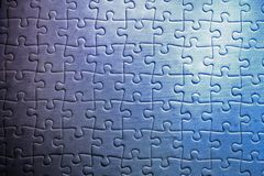 Jigsaw Puzzle. Pieces of a jigsaw puzzle (mouldy and dirty Stock Photography