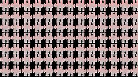 Jigsaw puzzle Abstract Patterns on black background, stock illustration