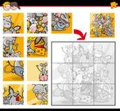 Jigsaw puzzle activity Royalty Free Stock Photo