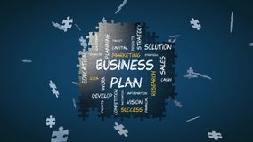 Jigsaw puzzle animation for business stock footage