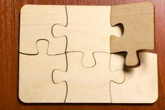 Free Jigsaw Puzzle Background, One Last Piece Missing Only, Easy Task Stock Photo - 166831690