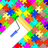Jigsaw puzzle Stock Photos