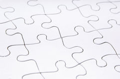 Jigsaw Puzzle Blank Stock Photo