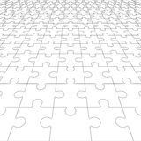 Jigsaw puzzle blank in perspective. Vector illustration Stock Image
