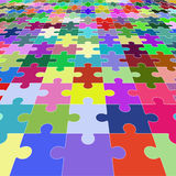 Jigsaw puzzle blank in perspective. Vector illustration Royalty Free Stock Photos