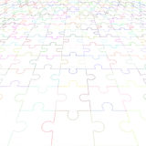 Jigsaw puzzle blank in perspective. Vector illustration Stock Images