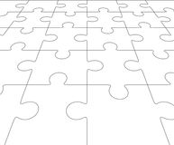Jigsaw puzzle blank in perspective. Vector illustration Royalty Free Stock Photography