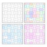 Jigsaw puzzle blank seamless templates Royalty Free Stock Photo