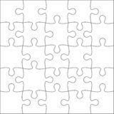 Jigsaw puzzle blank