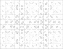 Jigsaw puzzle blank template or cutting guidelines with pieces of various shapes, horizontally oriented. Jigsaw puzzle blank template or cutting guidelines with Royalty Free Stock Photos