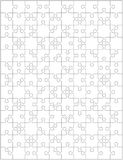 Jigsaw puzzle blank template or cutting guidelines with pieces of various shapes, vertically oriented. Jigsaw puzzle blank template or cutting guidelines with Stock Photos