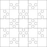 25 Jigsaw puzzle blank template or cutting guidelines Stock Image