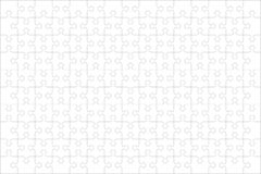 Free Jigsaw Puzzle Blank Template Of 150 Pieces, Horizontal Royalty Free Stock Images - 128334689