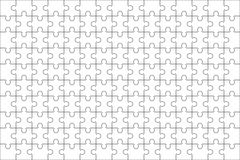 Jigsaw puzzle blank template 150 pieces Stock Photography