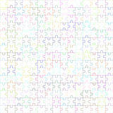 Jigsaw puzzle blank template 225 pieces. Jigsaw puzzle , blank simple template, 225 pieces Royalty Free Stock Photography