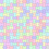 Jigsaw puzzle blank template 225 pieces Stock Photos