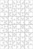 96 Jigsaw puzzle blank template  : 2:3 ratio. Simple and editable 96 Jigsaw puzzle blank template or cutting guidelines : 2:3 ratio Stock Photos