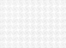 Jigsaw puzzle blank template with whimsically shaped pieces, horizontal, 11 to 8 ratio. Jigsaw puzzle blank template or cutting guidelines with whimsically royalty free illustration
