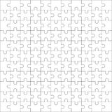 Jigsaw puzzle blank template 11x11 Royalty Free Stock Photo