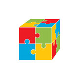 Jigsaw puzzle blank vector 2x2, four pieces Royalty Free Stock Photo