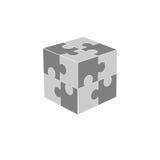 Jigsaw puzzle blank vector 2x2, four pieces Royalty Free Stock Photos