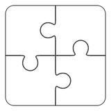 Jigsaw puzzle blank  2x2, four pieces Stock Image
